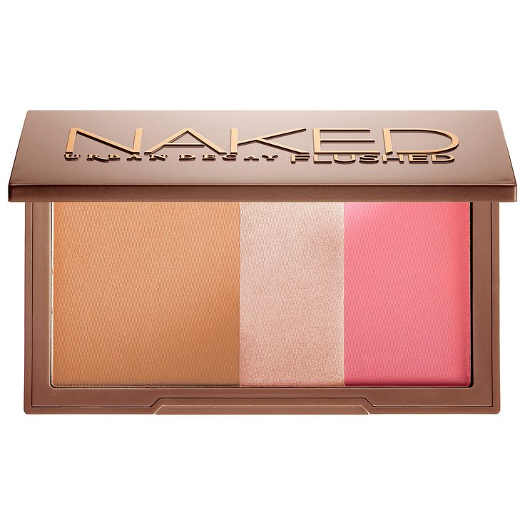 Urban Decay Naked Flushed: 3 offerings of blush, bronzer, and highlight. I have used this on many, and I have made them addicted too!!!  I effin love Urban Decay