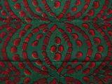 Stoff afrikanisch - Grüne und rote afrikanische Stoff- 6 Meter - ein Designerstück von urbanstax bei DaWanda