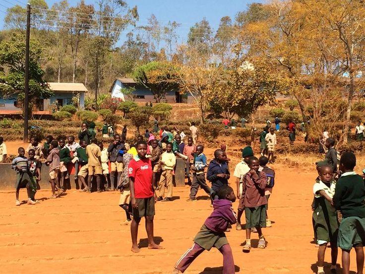 Children at Mwoyoweshumba Primary School, Mutasa, Zimbabwe
