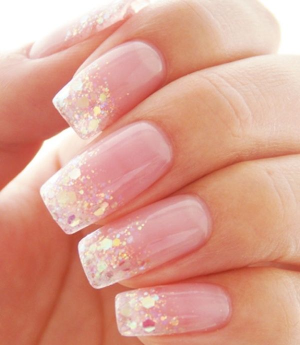 Pretty Pink Wedding Nails