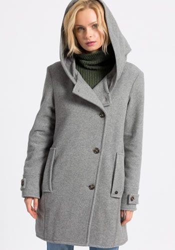 Palton iarna dama cu gluga detasabila