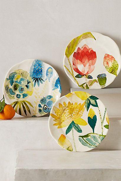 Garden Buzz Dessert Plate - anthropologie.com