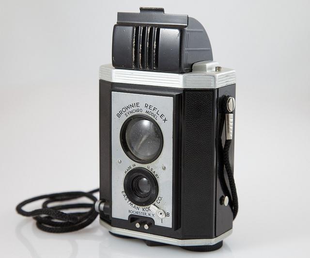 Kodak Brownie Reflex, Art Decó, 1940.