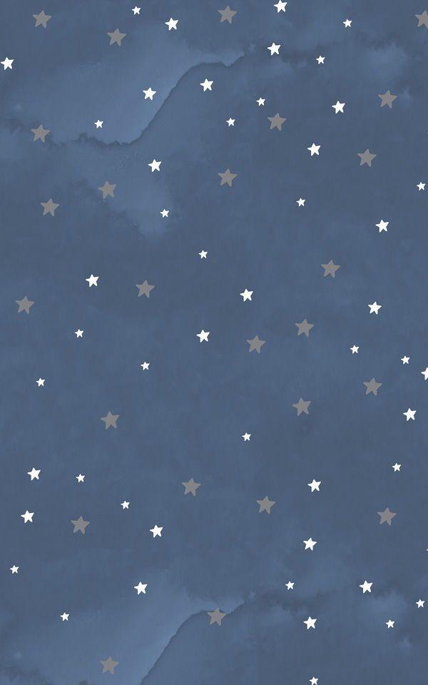 Dreamy Starry Night Wallpaper Mural Murals Wallpaper Starry Night Wallpaper Simple Wallpapers Cute Patterns Wallpaper