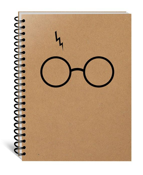 Harry Potter Notebook, Hogwarts, Hufflepuff, Gryffindor, Slytherin, Ravenclaw, Journal, Diary, Christmas, Birthday, Movie Gift