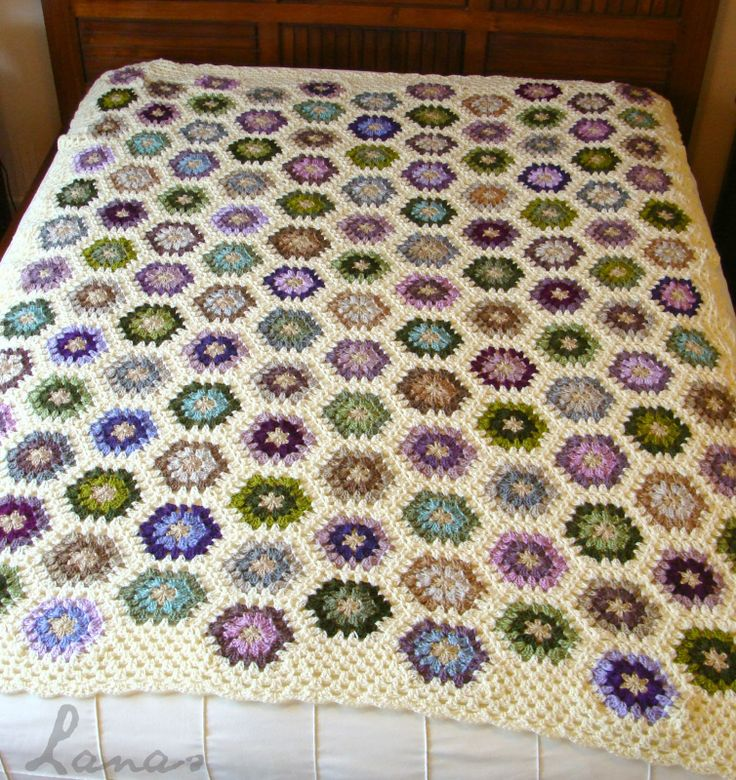 Lanas de Ana: Blanket Finale: Peaceful Hexagon