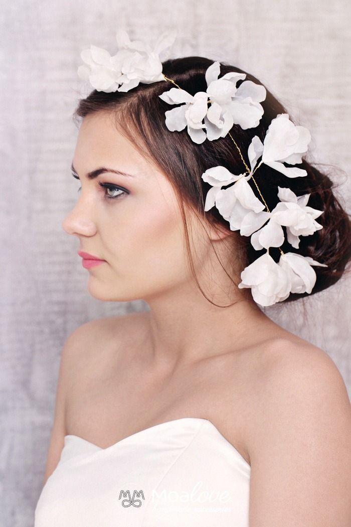 Petunia | silk blossoms hair wine - MoaLove Accessories