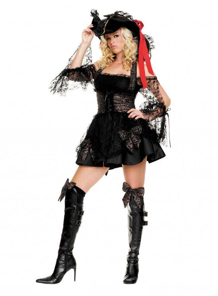 schwarze piratin karneval kost m piratenkost m f r damen s bis xl fasching pinterest. Black Bedroom Furniture Sets. Home Design Ideas