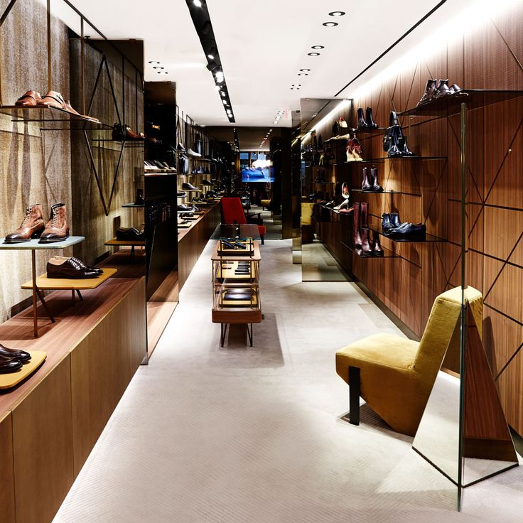Madison Avenue boutique - New York. Design by Patricia Urquiola  #santoni #Madisonavenue #santonishoes