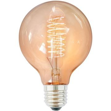 Bec decorativ Edison G80 40W E27, 220-240V