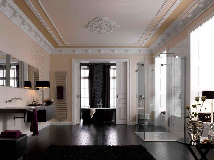 110 besten Badezimmer: Ideen für die Badgestaltung Bilder auf ... | {Luxus badezimmer schwarz 48}