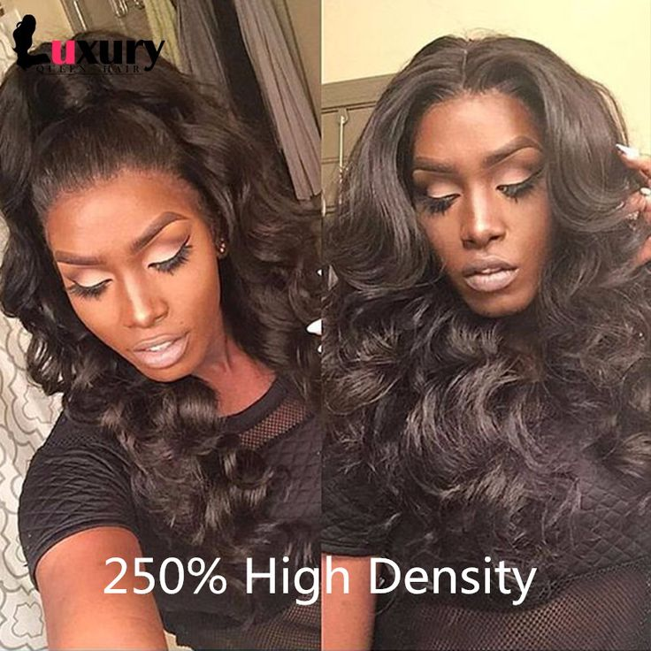 7A Front Lace Wigs Brazilian Virgin Hair Body Wave Full Lace Front Human Hair Wigs For Black Women 250% High Density Lace Wig