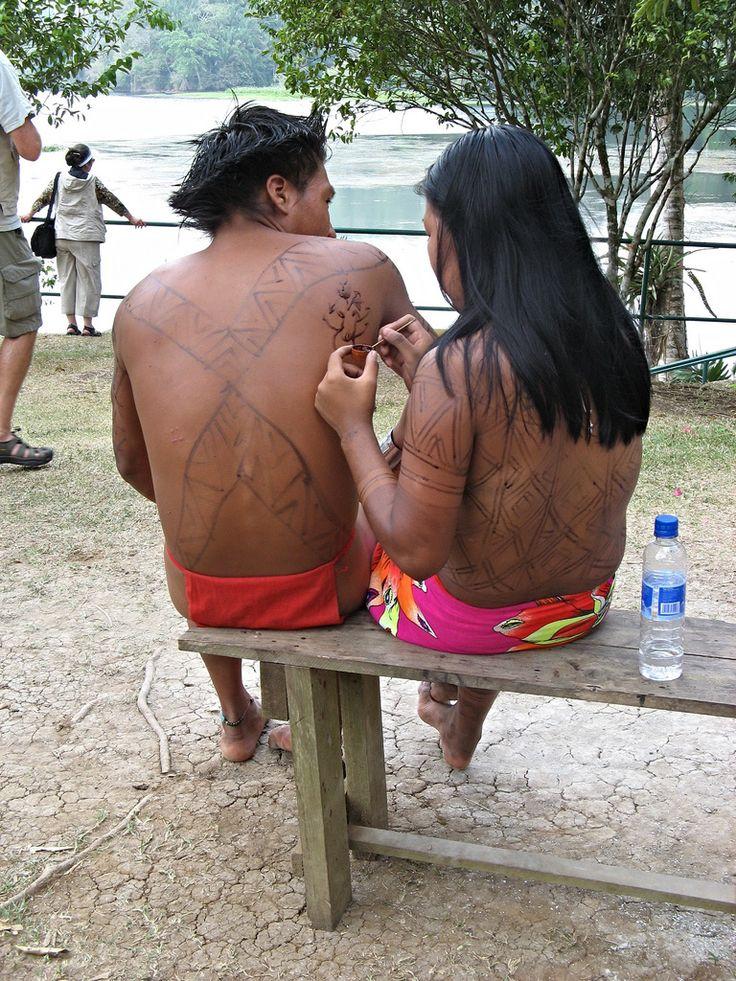 An Embera Indian couple, Panama