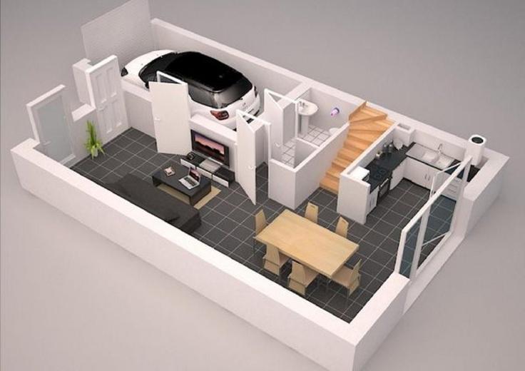 Habitations vertes et familiales, uniquement composée de maisons BBC avec 3 chambres, cuisine aménagée, garage et jardin privatif.