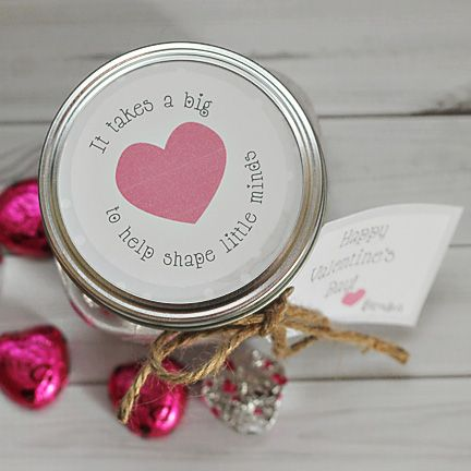 "Great Valentine's gift for teachers: ""It Takes a Big Heart to Help Shape Little Minds"""