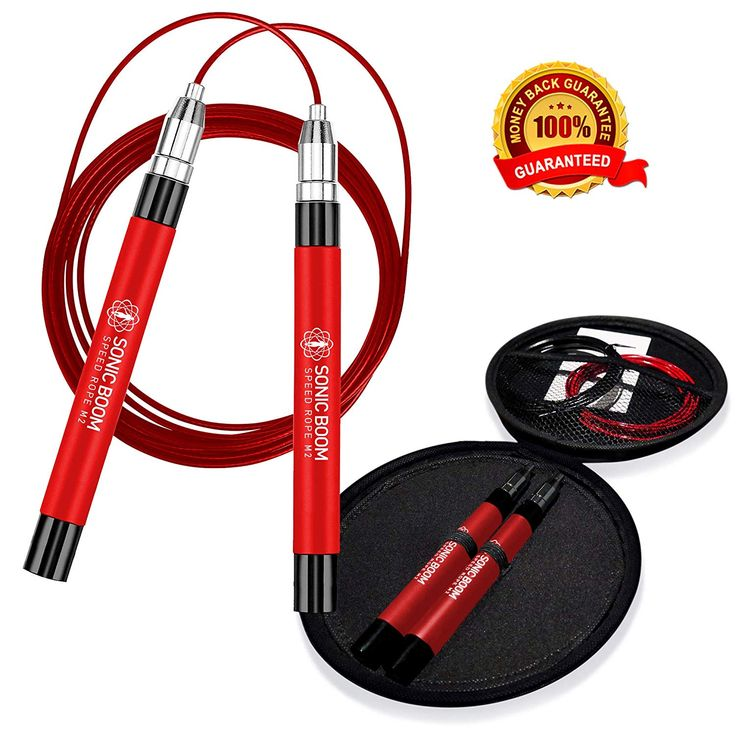 Sonic Boom M2 High Speed Jump Rope – Patent Pending Self-Locking, Screw-Free Des…