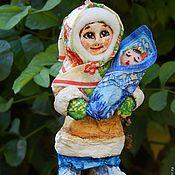 Ватная ёлочная игрушка. Лёгкая и прочная. Единственный экземпляр. Новогодняя игрушка подарит незабываемые детские воспоминания и послужит прекрасным украшением ёлки! Стоимость игрушки 200 грн Подробнее http://www.livemaster.ru/item/8405525-podarki-k-prazdnikam-marusya