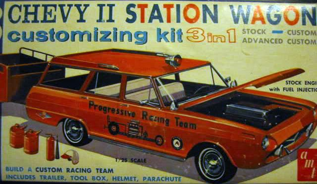 AMT - Chevy II station wagon 3 in 1 customizing model kit | Model Car & Truck Kits | Pinterest | Model cars kits, Kit cars and Chevy