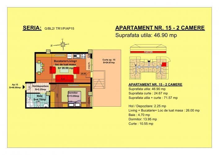 Vand apartament 2 camere, parter, zona Tractorul-Brasov  Situate pe strada Nicolae Labis nr 52, blocurile sunt construite pe un regim de inaltime de P+2 E + Mansarda, cu 2 lifturi si sunt realizate arhitectural cat sa permita acelasi grad de lumina in toate apartamentele.  Acceptam orice forma de plata: Cash, Credit Ipotecar, Prima Casa sau Rate la Dezvoltator.( cu un avans de 10000 euro- 5000 la achizitie si 5000 la mutare, rate de 600 euro, perioada maxima 7 ani)