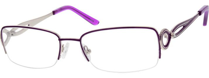 Women's Purple 5550 Stainless Steel Half Rim Frame and Metal Alloy temples | Zenni Optical Glasses-oNRX9a65