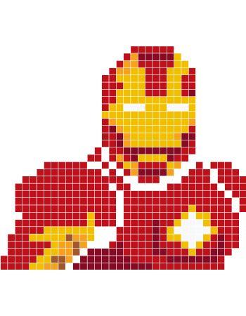 Iron Man pixel art - Stickaz
