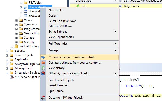 Source control at your fingertips inside SQL Server Management Studio