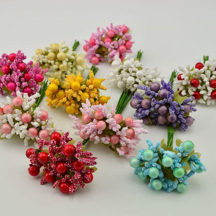 10 unids mini estambre artificial hoja del brote ramo de flores para la boda diy guirnaldas de navidad decoración del partido