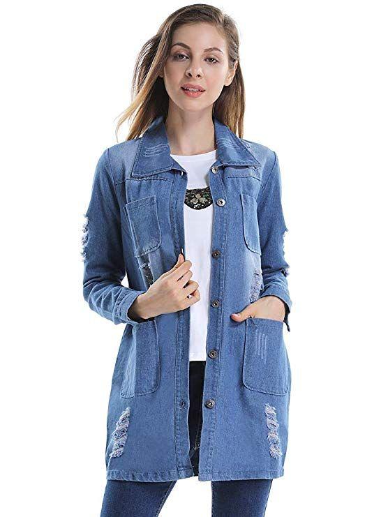 903a4800833 OCHENTA Women s Vintage Boyfriend Denim Jacket