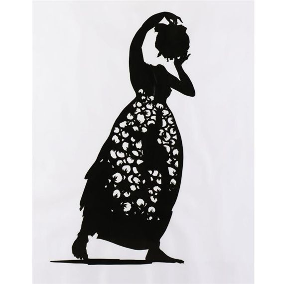 Kara Walker Three Sentries Cotton Fed Contemporary  She is best known for her room-size tableaux of black cut-paper silhouettes.