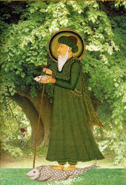 Sufi Saint Khidr (the Green One) - c.18 Century. US Public Domain. and jungian archetypes