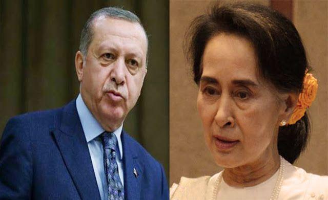 Ditelpon Erdogan Syuu Kyi Ngeles Bilang Pembantaian itu Hoax  Republik.in Dilansir sindonews.com Wanita paling berkuasa di Myanmar Aung San Suu Kyi akhirnya buka mulut. Dalam pembicaraan dengan Presiden Turki Tayyip Erdogan peraih Nobel Perdamaian yang sedang disoroti masyarakat dunia karena dianggap mendukung pembantaian terhadap etnis Rohingya di Rakhine mengatakan bahwa yang terjadi saat ini adalah gunung es misinformasi yang sangat besar. CNN mencatat pembicaraan dengan Erdogan ini…