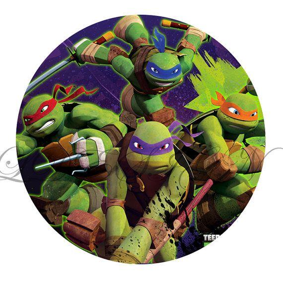 Teenage Mutant Ninja Turtles 2 Inch Circles Stickers