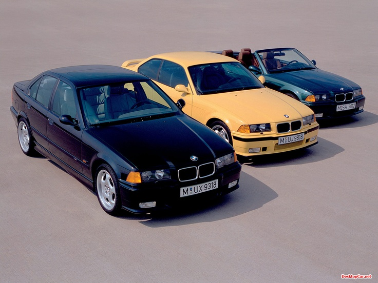 BMW M3 E36 sedan, coupe & convertible