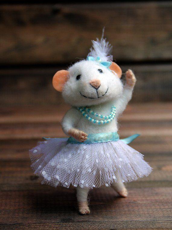 Nadel Gefilzt Ballett Tanzerin Ballerina Maus Tanzer Gefilzte Maus Filz Tier Filz Maus Susse Maus Eco Spielzeug Filz Mause Needl