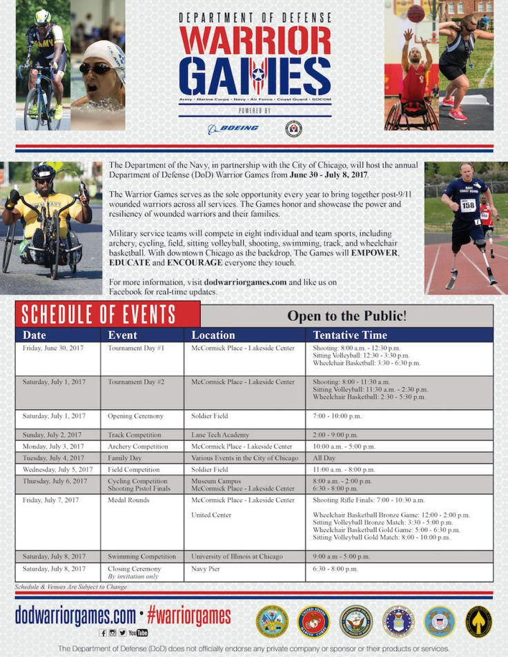 Check out Warrior Games Opening Ceremony w/ Blake Shelton And Kelly Clarkson at Soldier Field in Chicago on July 01, 2017 and get detailed info for the event - tickets, photos, video and reviews.