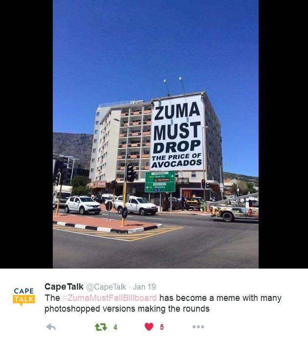 #ZumaMustFallBillboard avos