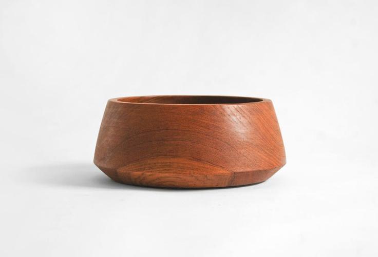 Vintage Wood Bowl - Mid Century, Modern, Retro, Serving. $12.00, via Etsy.