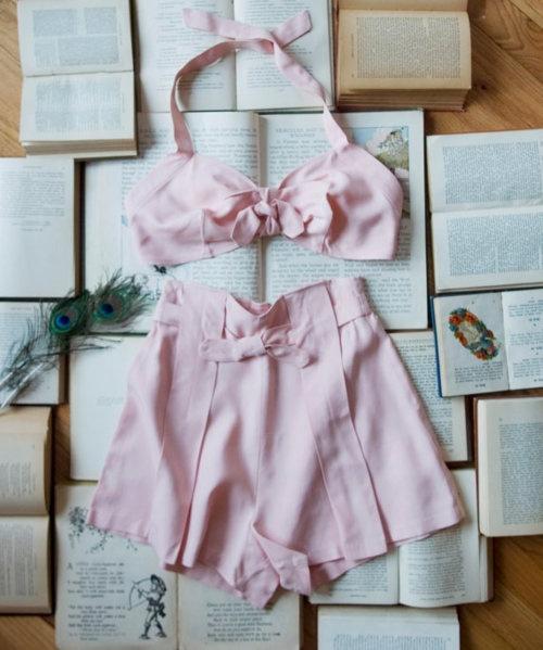 adorable Vintage 1940s Pink Suit