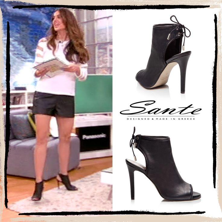 Stamatina Tsimtsili in SANTE #Booties #SS15 at HappyDay Alphatv #SanteLovers