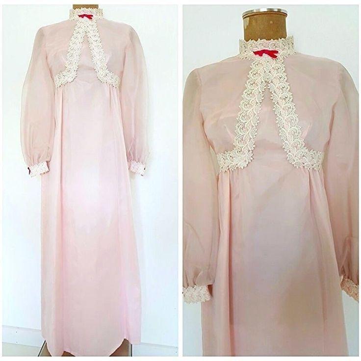 Vintage 60s Lorrie Deb Lace Dress Size Small Wedding Formal Bridesmaid Sheer #LORRIDEB #EmpireWaist #Formal