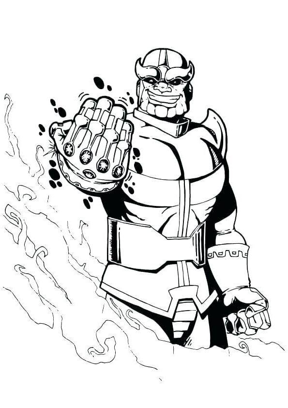 Ausmalbilder Marvel Thanos E1550114160684 Thanos Marvel