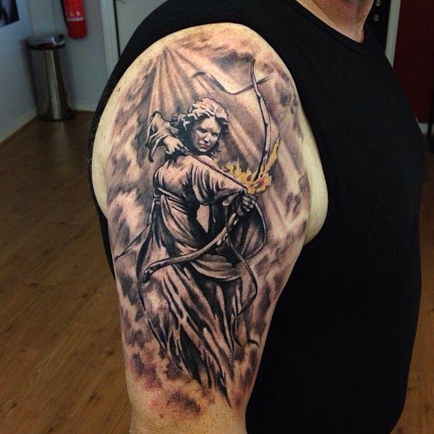 My Sagittarius Tattoo Done By Adem At Fat Fugu In