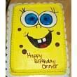 Spongebob birthday cake I made