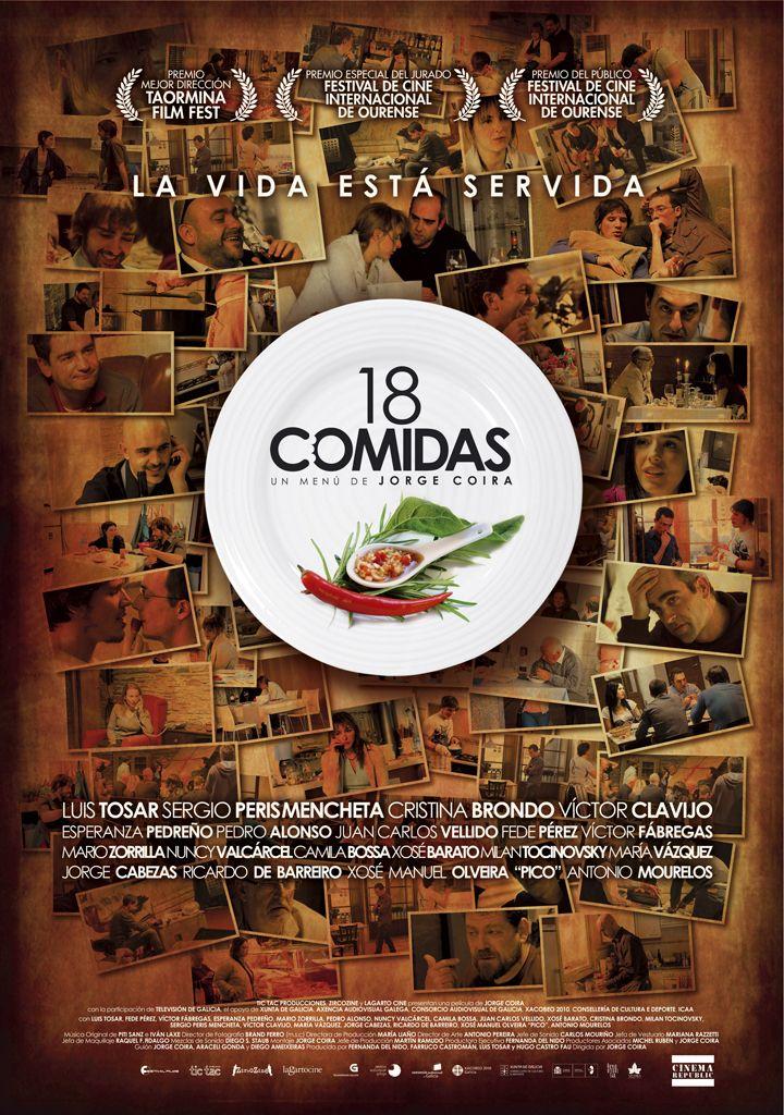 18 comidas. Película española con 6 historias donde la gastronomía está muy presente. #películas #gastronomía #restaurantes #18comidas