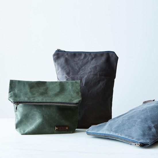 Waxed Canvas Lunch Tote: Waxed canvas shell with a natural linen lining. #food52