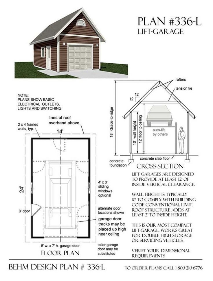 8x8 Bedroom Design: 1 Car Craftsman Style Garage Plan With Attic 384-6 16' X