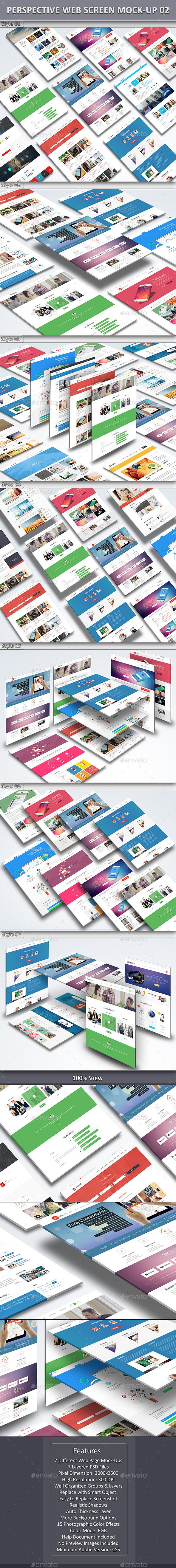 Perspective Web Screen Mock-Up 02 by towhid123griver Perspective Web Screen Mock-Up 02:The pack includes 07 perspective website mock-ups. 07 PSD files are included in the package. Ad
