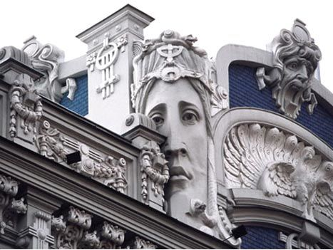 Riga, LatviaArt Nouveau, 19Th Century, Design Art, Artnouveau, Riga Latvia, Maine Street, Art History, Art Deco, Sculpture Art