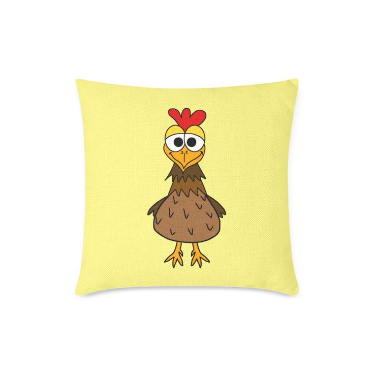 Silly Chicken New Pillow Case Pillow Inner Included 18