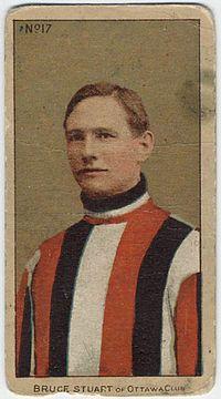 Ottawa Senators Bruce Stuart in 1909-10 jersey